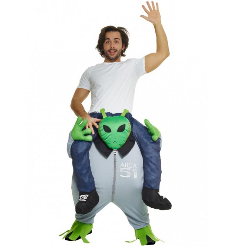 Disfraz de otro planeta a hombros de un marciano Carry Me