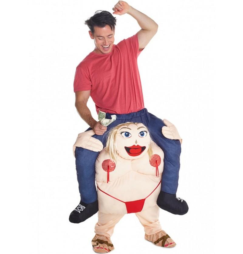 Disfraz montando una fiesta bien gorda Carry Me