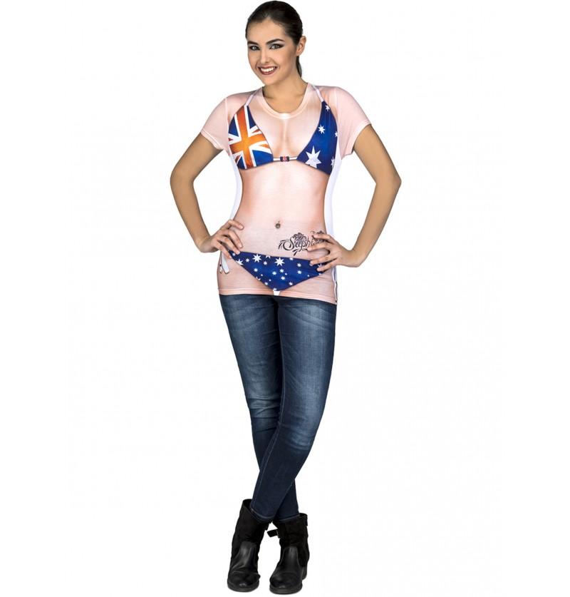 camiseta de australiana sexy para mujer