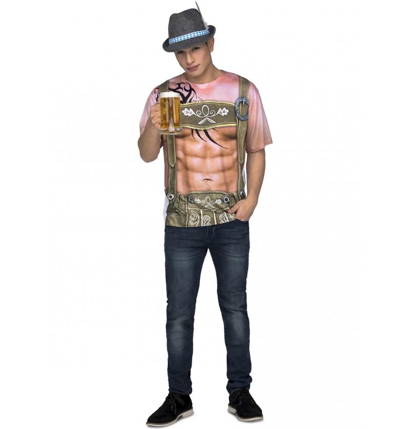 camiseta de tirols sexy oktoberfest para hombre