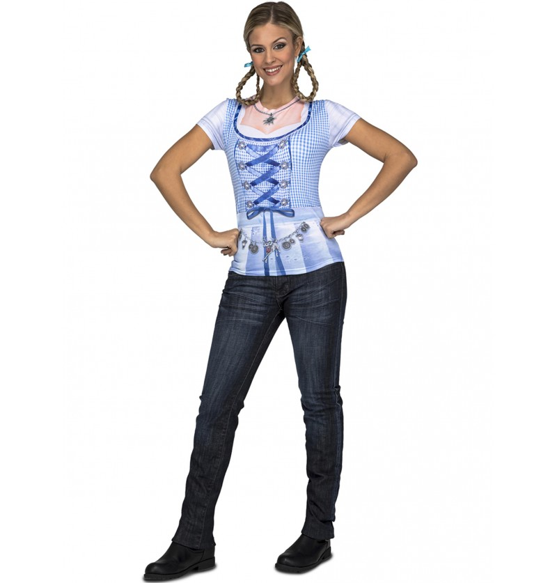 camiseta de lady oktoberfest para mujer