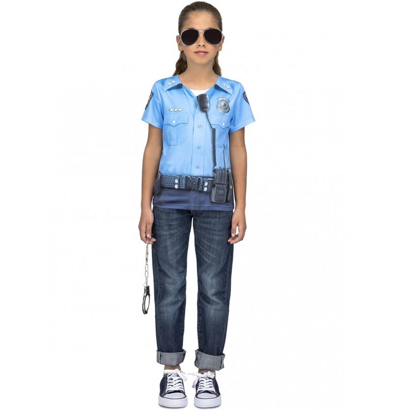 camiseta de polica infantil