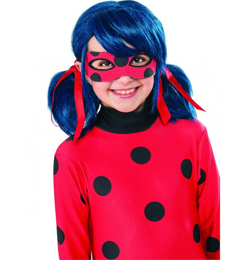 Peluca de Ladybug para niña