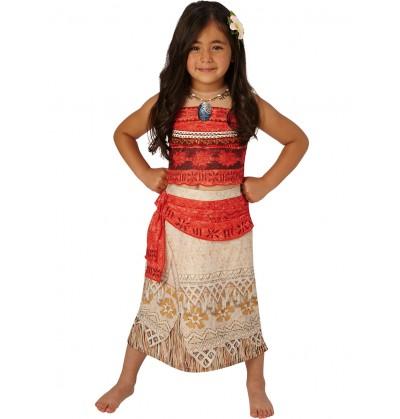 Disfraz de Vaiana deluxe para niña