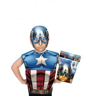 Kit disfraz de Capitán América económico para niño