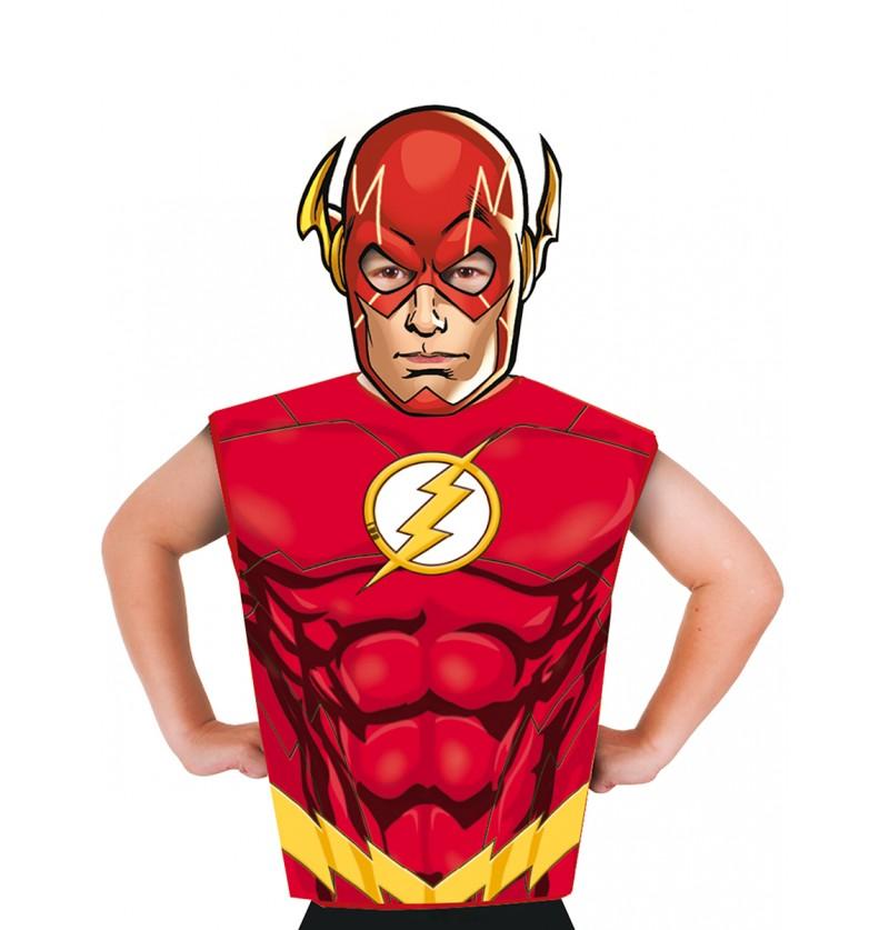 Kit disfraz de Flash económico para niño