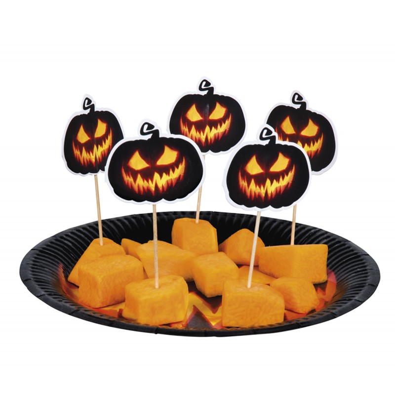 set de 12 palillos de calabaza para cocktail