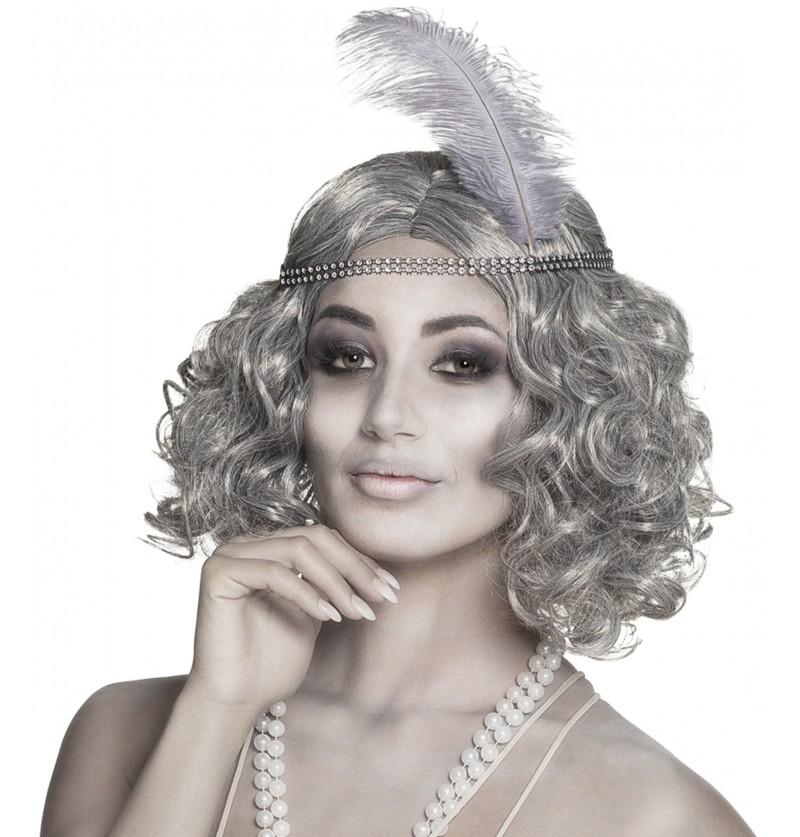 peluca de fantasma del charlestn para mujer