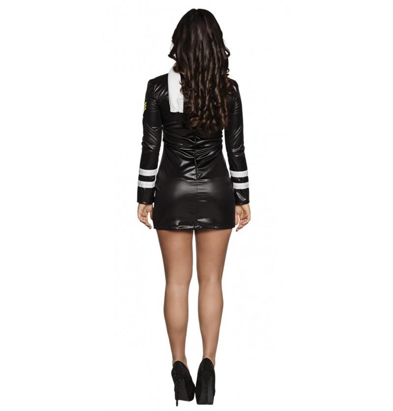 disfraz de azafata negro para mujer
