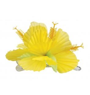 flor hawaiana amarilla para el pelo