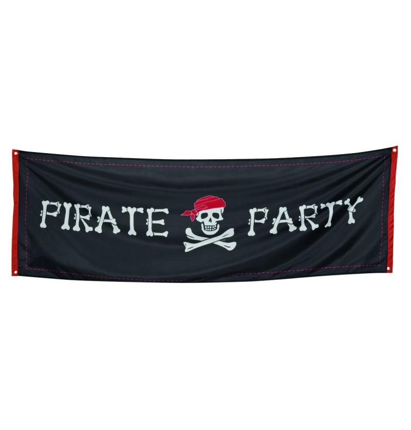 cartel de fiesta pirata