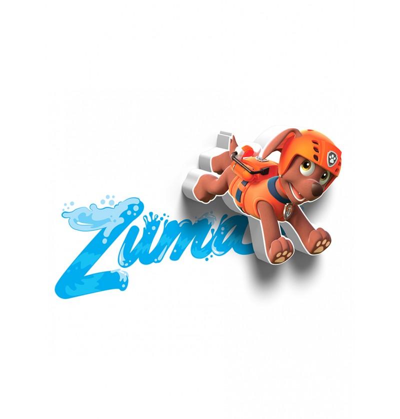 Lámpara decorativa 3D Zuma Patrulla Canina