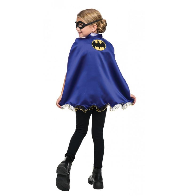 Kit de antifaz y capa de Batgirl para niña
