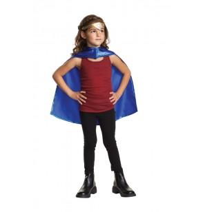 Kit de tiara y capa de Wonder Woman para niña