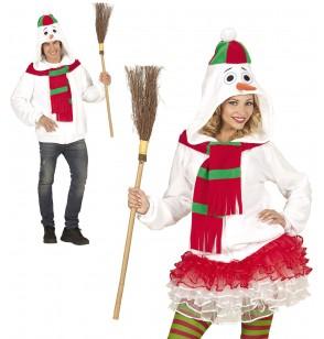 Chaqueta de muñeco de nieve calentito talla grande para adulto