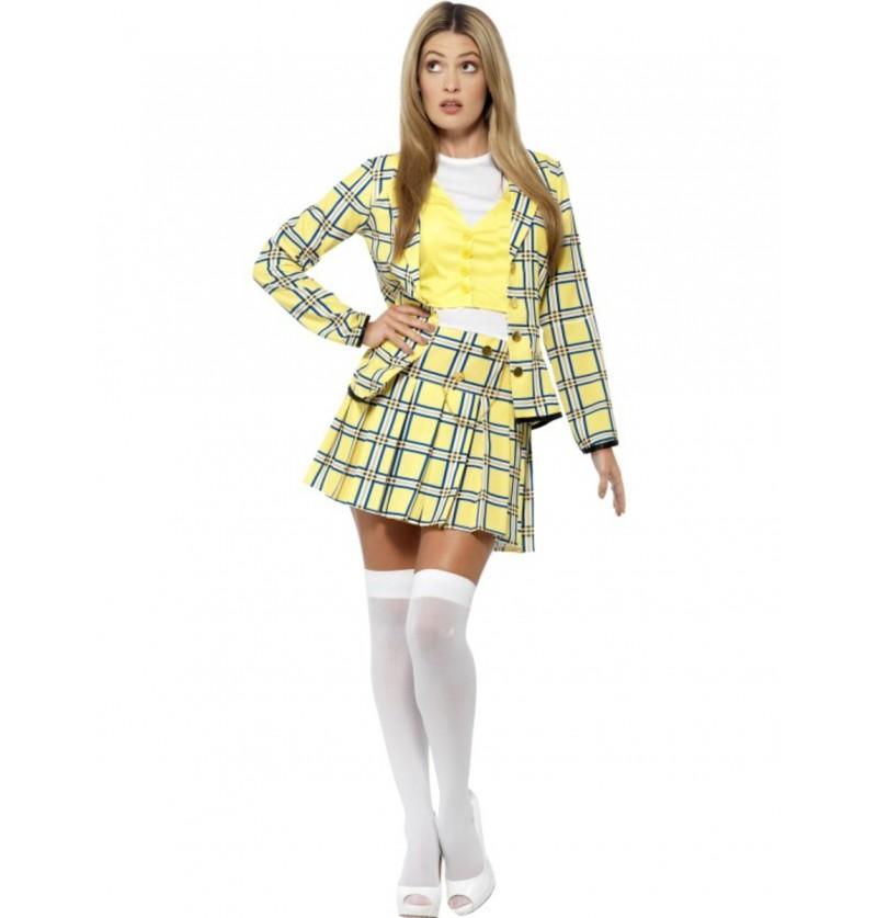 Disfraz de Cher amarillo Clueless para mujer