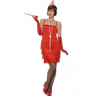 Disfraz de dama de rojo años 20 para mujer