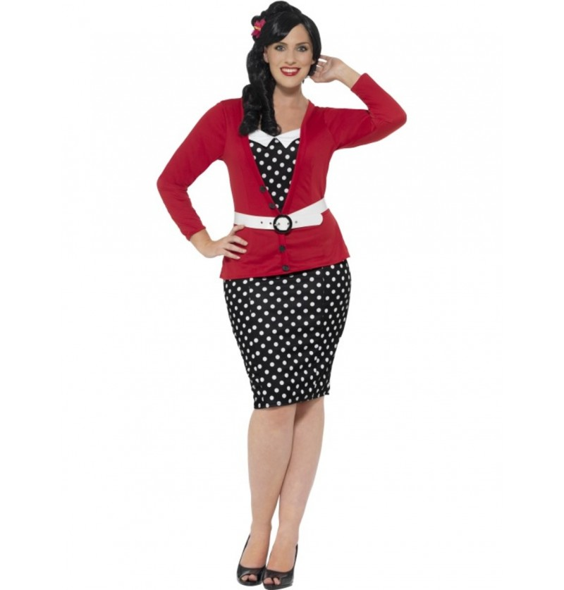 Disfraz de chica pin up para mujer talla grande