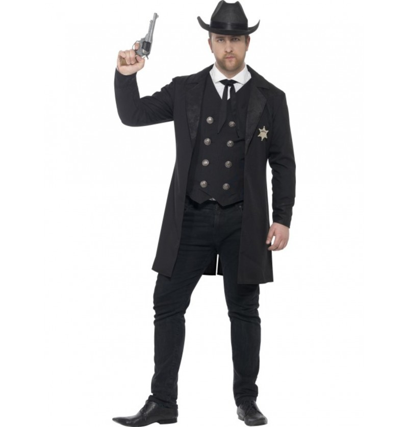 Disfraz de sheriff justiciero para hombre