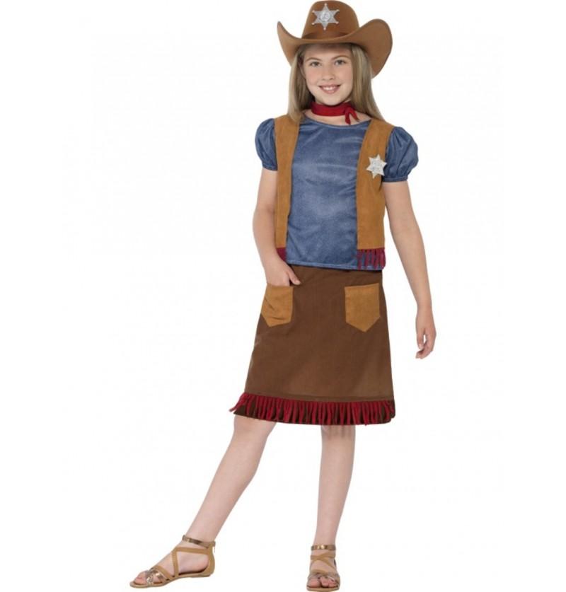 Disfraz de vaquera del lejano oeste para niña
