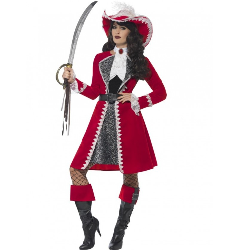 Disfraz de Capitana Escarlata para mujer