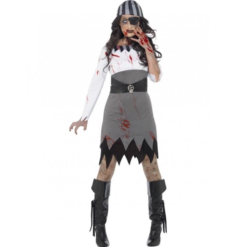Disfraz de pirata zombie para mujer