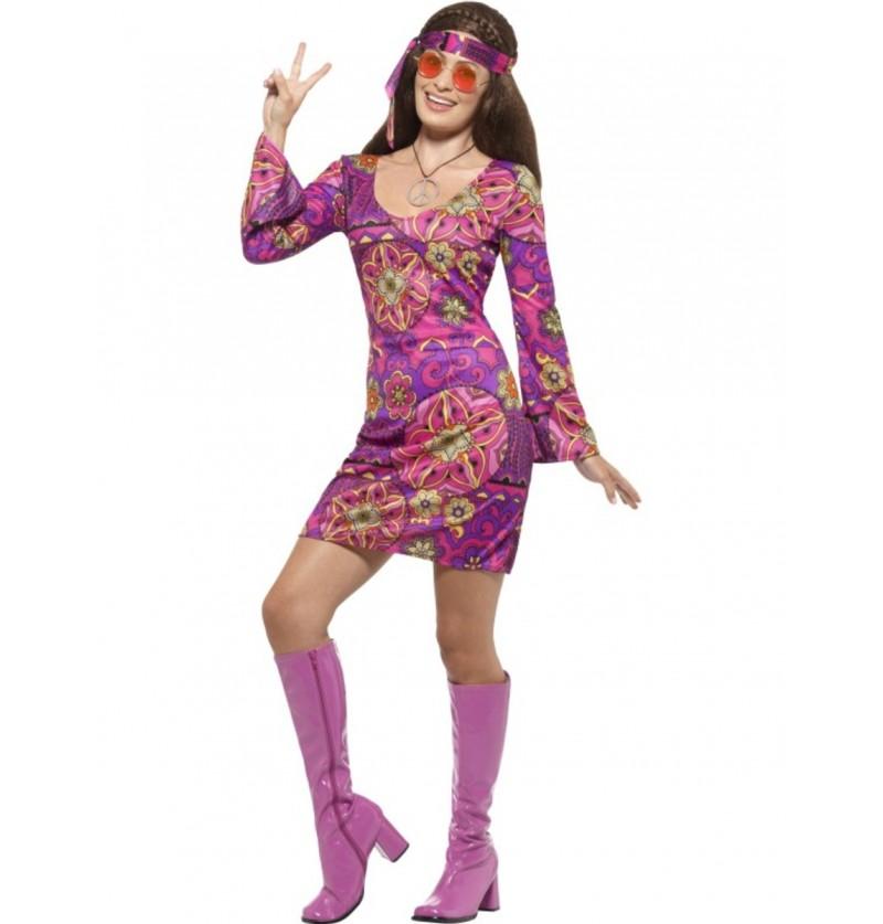 Disfraz de hippie amor libre para mujer