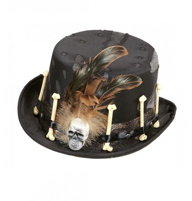 Sombrero de hechicero vudú para hombre