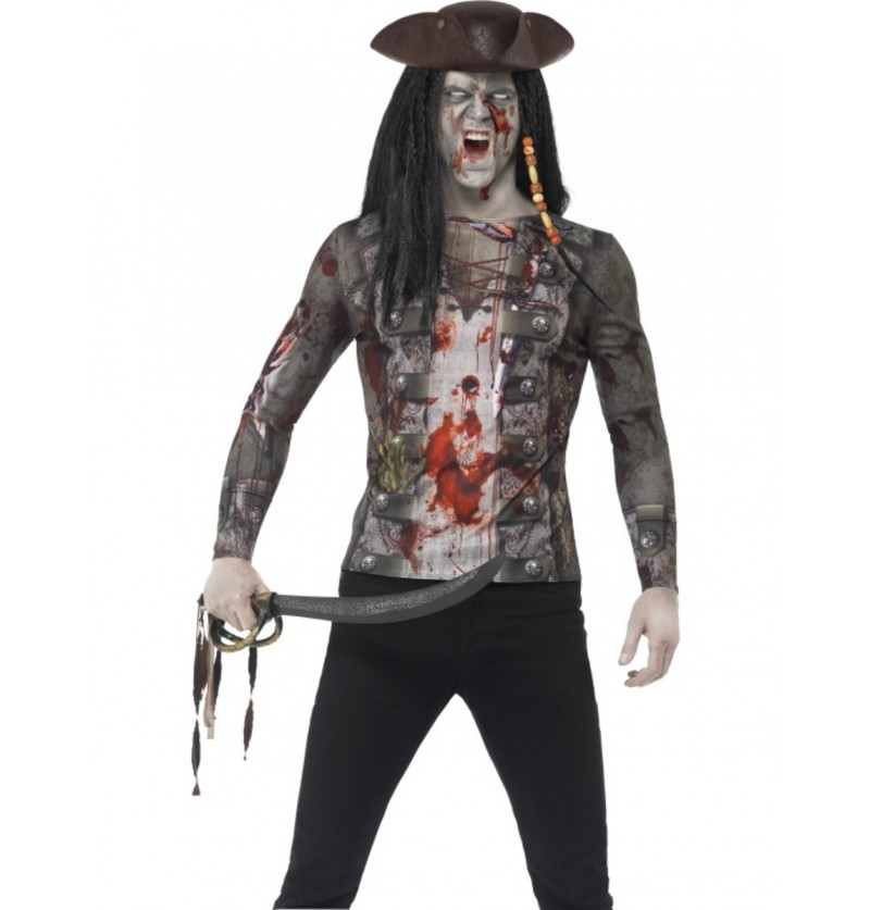 Camiseta de pirata zombie para hombre