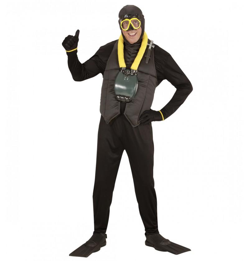 Disfraz de submarinista talla grande para hombre
