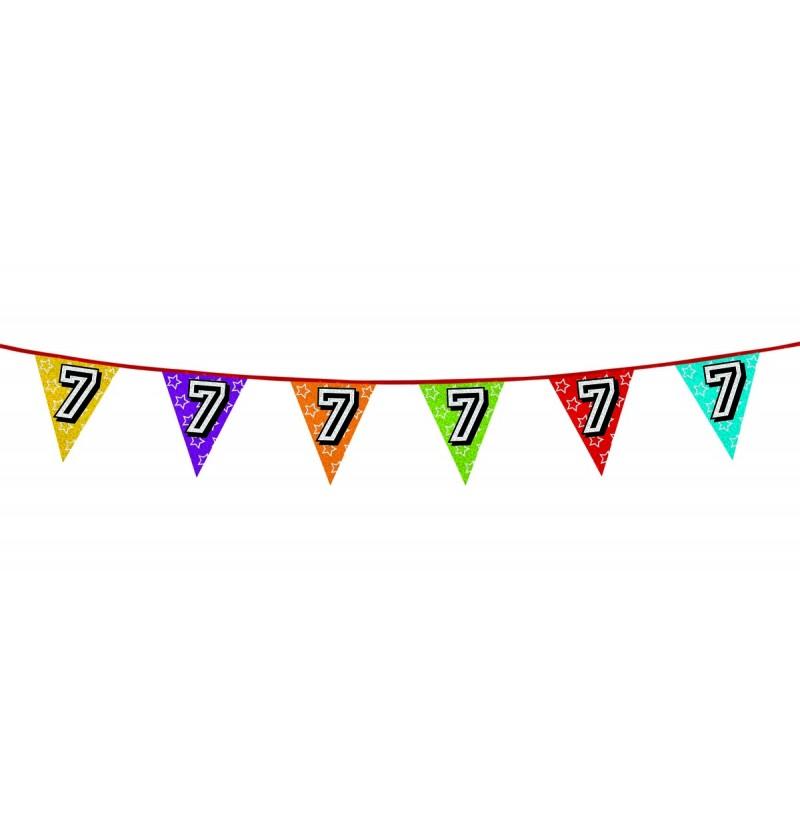 Banderines con número 7