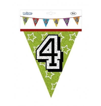 Banderines con número 4