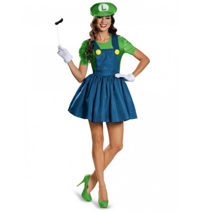 Disfraz Brillante de Luigi para mujer