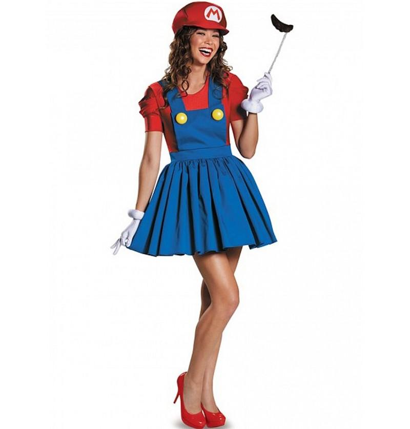 Disfraz Brillante de Super Mario para mujer