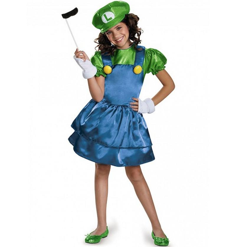 Disfraz Brillante de Luigi para niña
