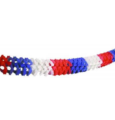 Guirnalda tricolor azul, blanco y rojo