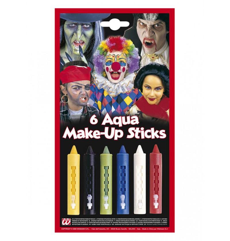 10 Barras de maquillaje multicolor