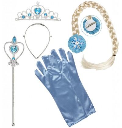 kit de accesorios de princesa de las nieves para nia