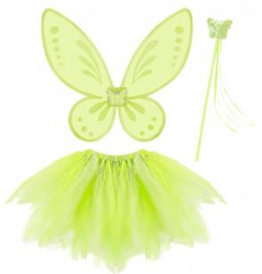 kit disfraz de hada verde para nia