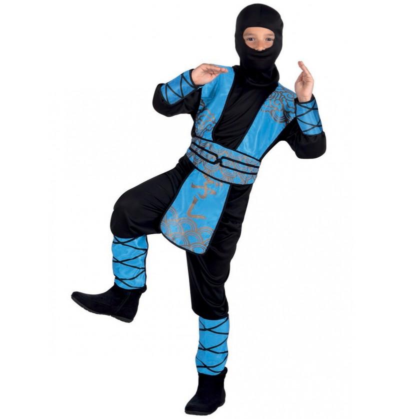 Disfraz de ninja azul para niño