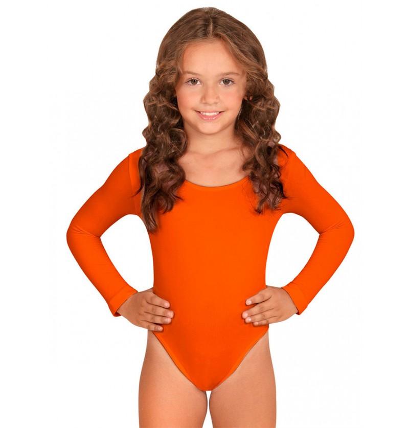 Body naranja para niña