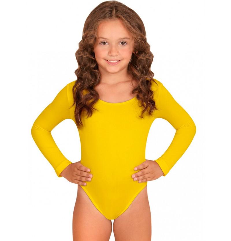 Body amarillo para niña