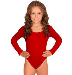 Body rojo para niña