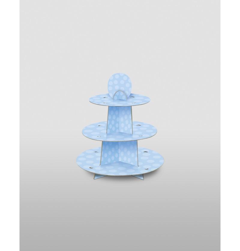 base para cupcakes grande azul