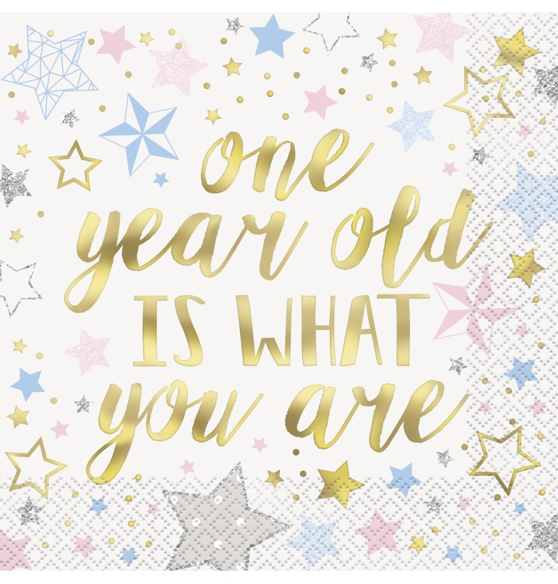 set de 16 servilletas grandes 1 year old is what you are twinkle little star