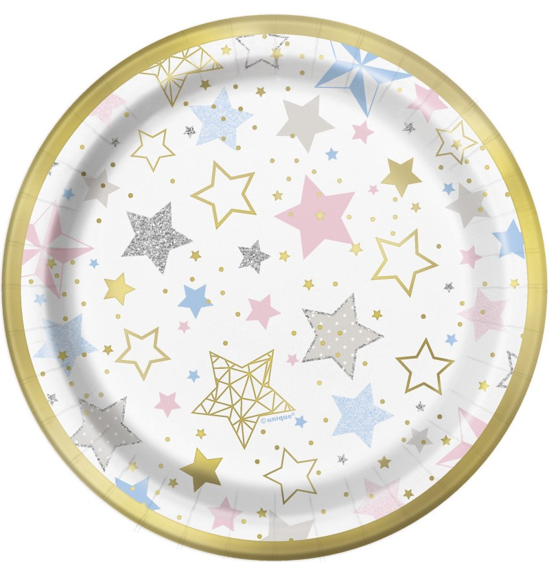 set de 8 platos medianos twinkle little star