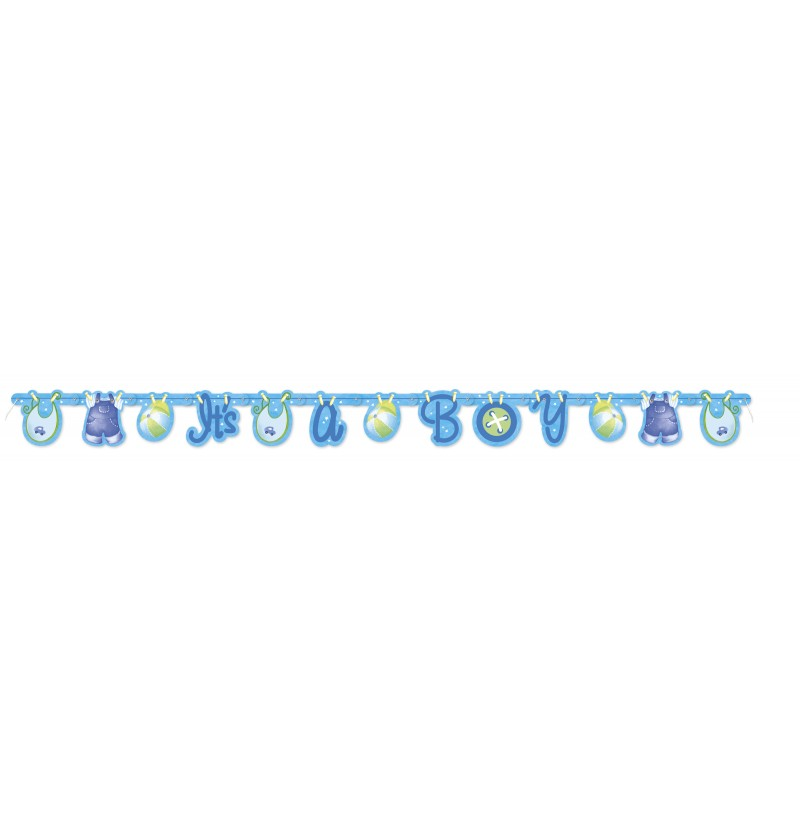 guirnalda it s a boy clothesline baby shower