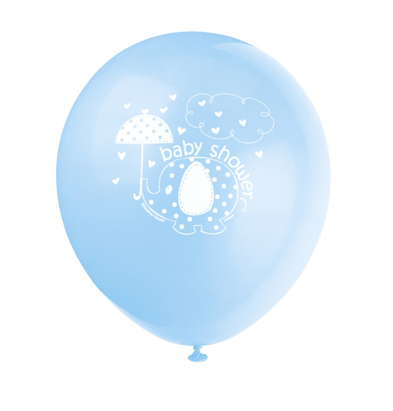 set de 8 globos azules umbrellaphants blue