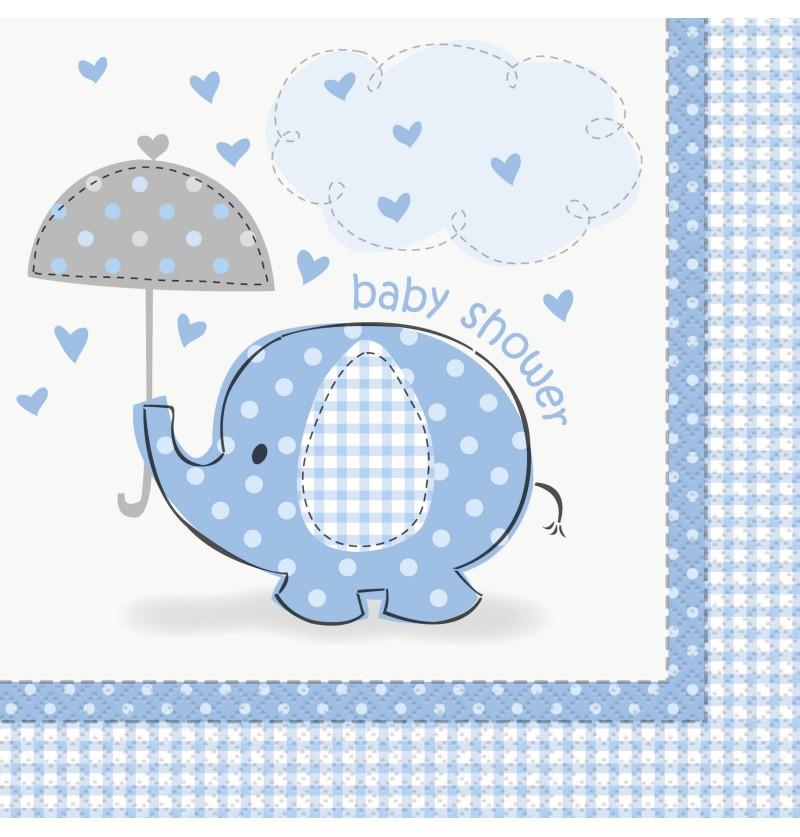 set de servilletas azul grandes umbrellaphants blue