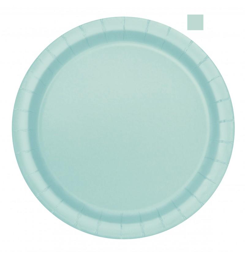 set de 16 platos verde menta lnea colores bsicos